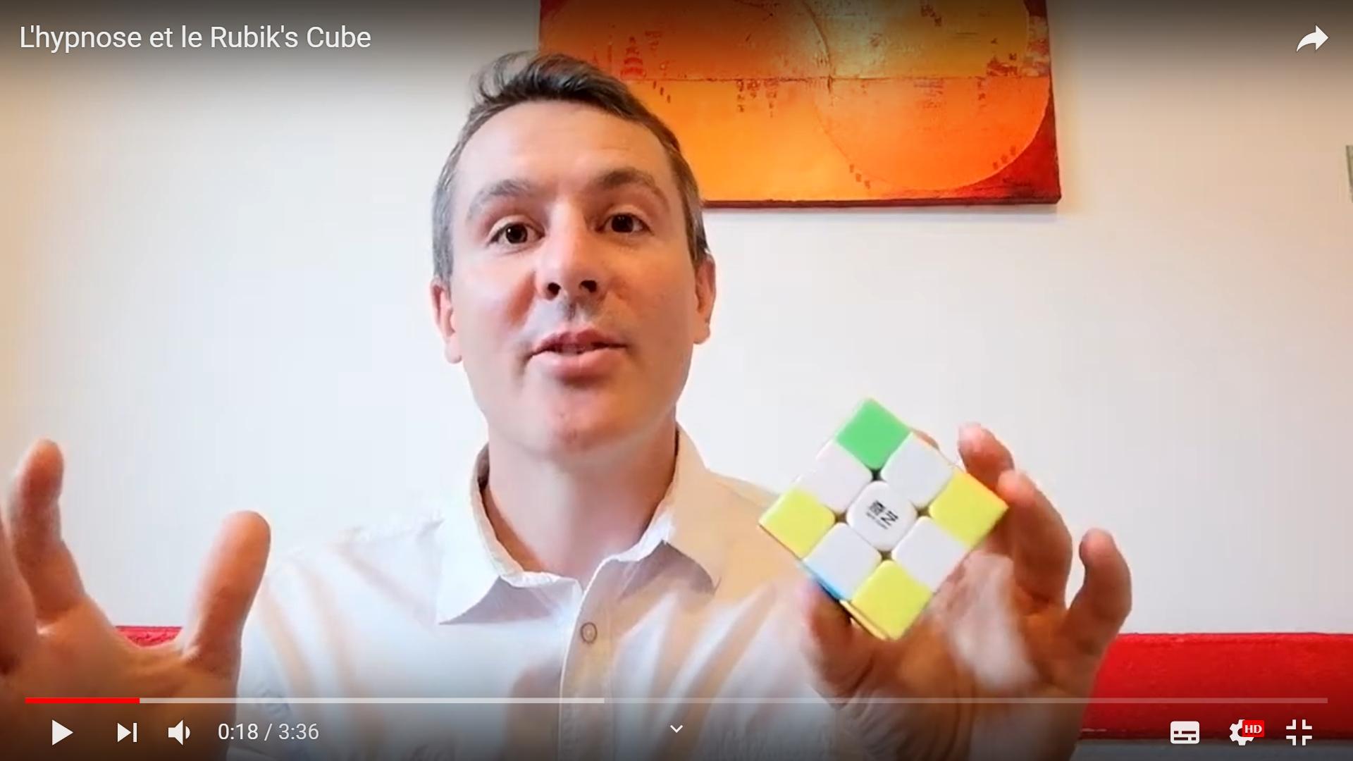 L'hypnose à travers le Rubik's cube en vidéo